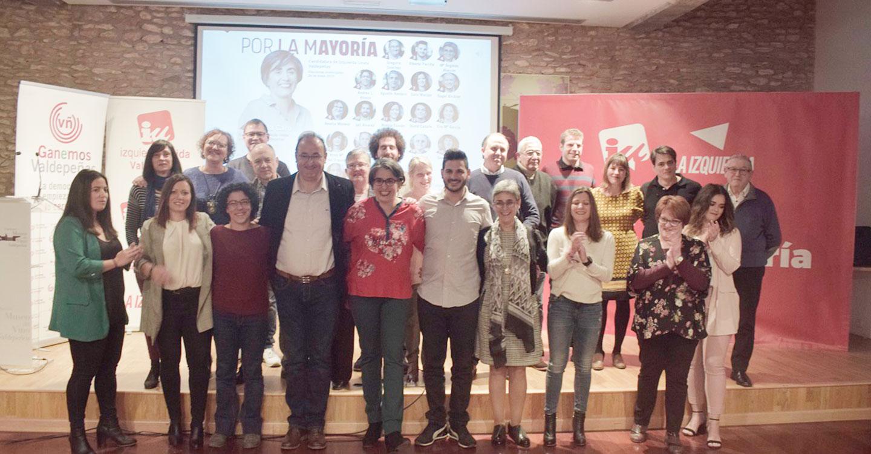 Izquierda Unida presenta su candidatura para las elecciones municipales en Valdepeñas