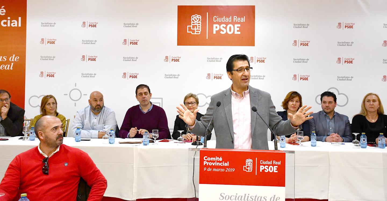 """El secretario general del PSOE de Ciudad Real, José Manuel Caballero, ha recalcado que """"a esta tierra le va mejor cuando gobierna el PSOE en España que cuando lo hace la derecha"""""""