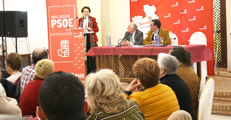 El PSOE de Malagón organiza un encuentro entre la Ministra de Trabajo, Magdalena Valerio, y los empresarios de la localidad