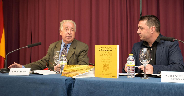 Emilio Nieto expuso su investigación sobre la obra «Nave trágica de la India de Portugal»