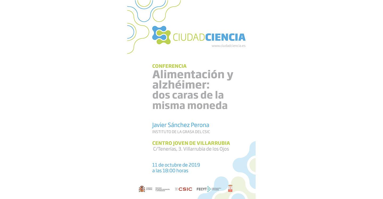 Alimentación y Alzheimer, Día de las Bibliotecas y taller de escritura, actividades de la Biblioteca de Villarrubia de los Ojos este octubre