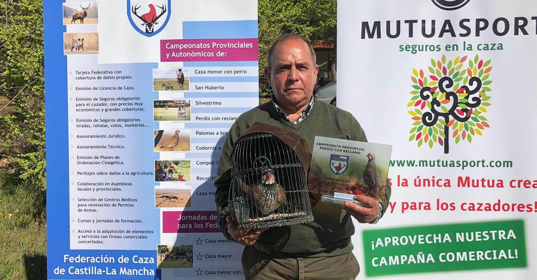 Julián Acero Castillo, campeón provincial de perdiz con reclamo