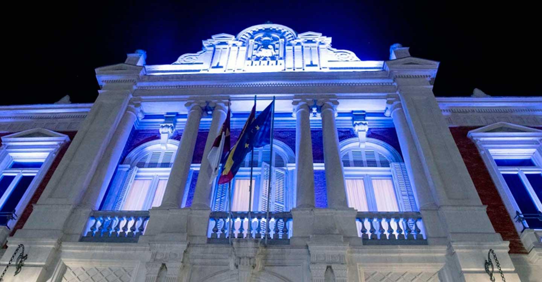 El Palacio Provincial lucirá mañana de color azul como homenaje a los sanitarios en el Día Internacional de la Enfermería