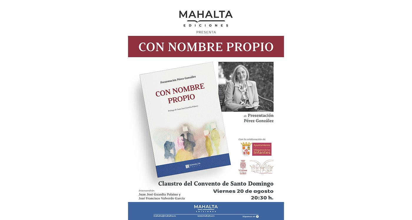 La poeta Presentación Pérez González dará a conocer su nuevo libro en Villanueva de los Infantes