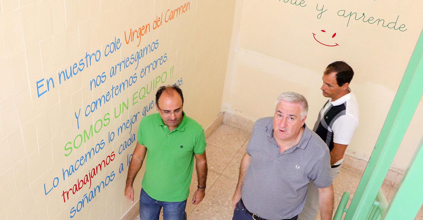 El único requerimiento oficial de Educación por las obras del CEIP 'Virgen del Carmen' ha sido para dar pintura a las porterías