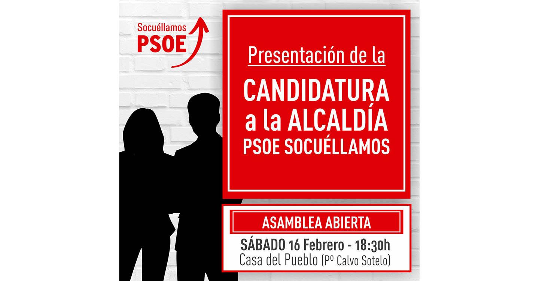 Este sábado se conocerá oficialmente la Candidatura a la Alcaldía por el PSOE de Socuéllamos