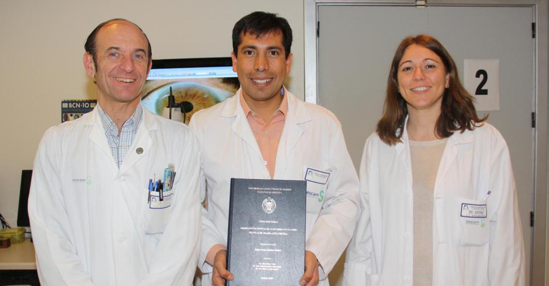 Matrícula de honor para la tesis de un oftalmólogo del Hospital Mancha Centro sobre la calidad óptica en los trasplantes corneales