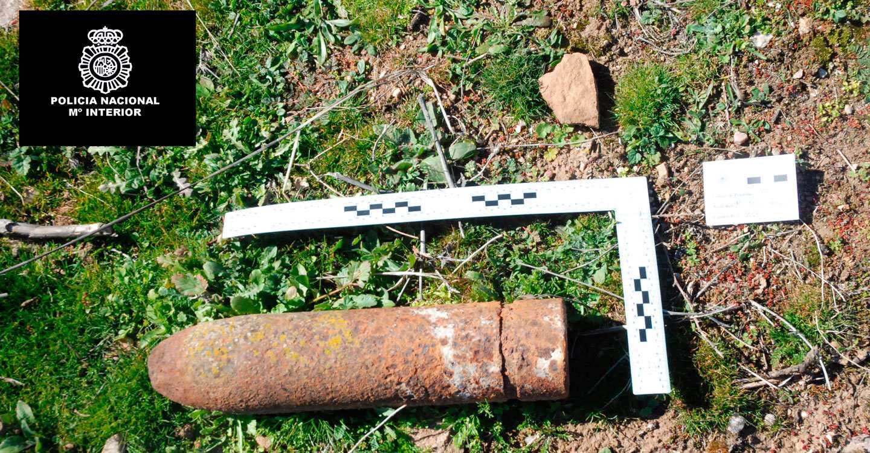 La Policía Nacional procedió a la destrucción del proyectil