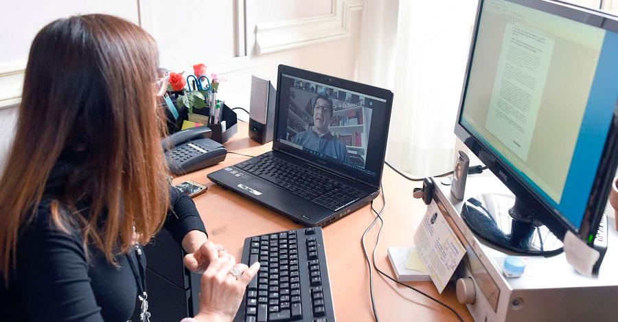 Caballero organiza por videoconferencia con los jefes de servicio de la Diputación un sistema de teletrabajo