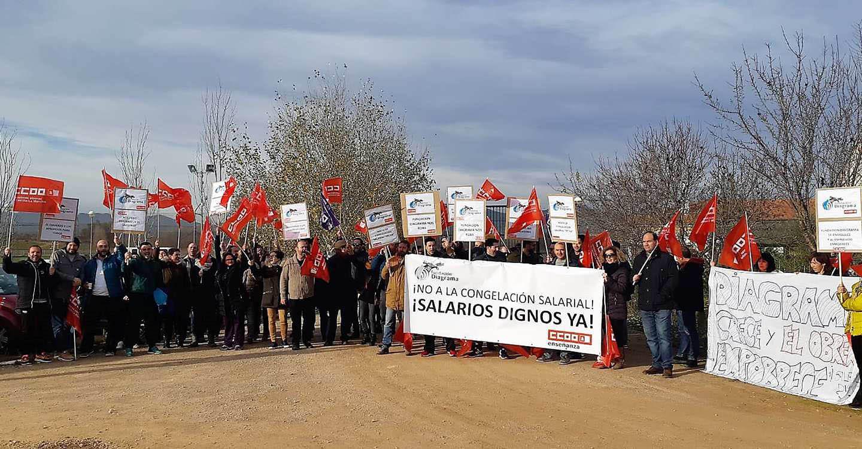 Las trabajadoras y los trabajadores de Fundación Diagrama se echan a la calle para exigir a su empresa la subida salarial establecida en el convenio colectivo
