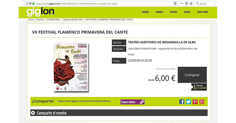 El área de Cultura pone en marcha el servicio de venta de entradas online