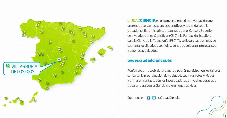 CSIC y FECYT llevarán la ciencia a Villarrubia de los Ojos el próximo martes 26 de febrero