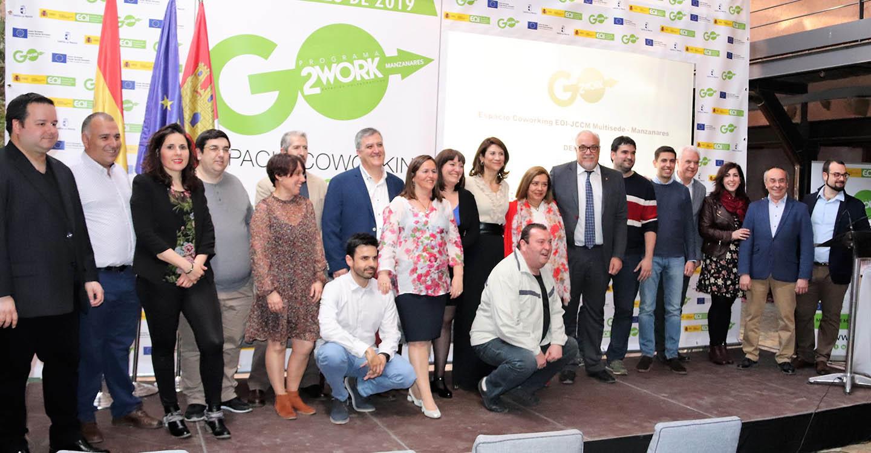 El espacio coworking multisede de Manzanares presenta 17 proyectos empresariales