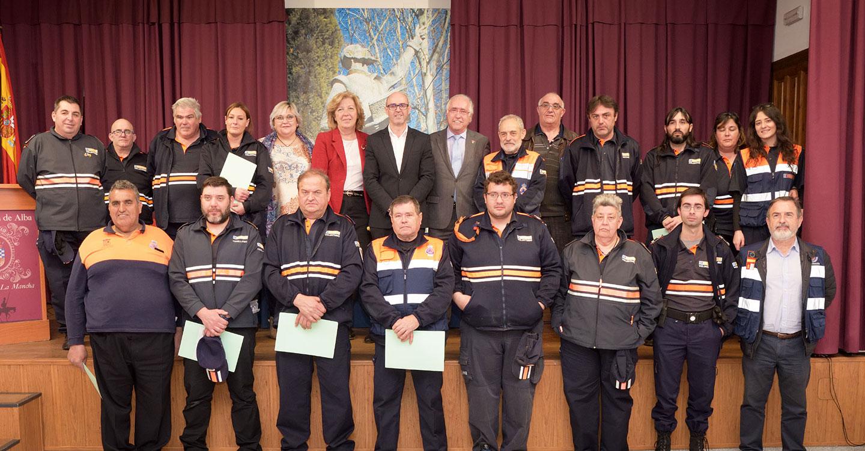 Argamasilla de Alba acoge la entrega de material de emergencia a siete agrupaciones de Protección Civil