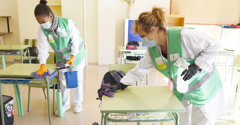 235 personas se incorporan hoy a los colegios de la provincia para el refuerzo de las labores de limpieza y desinfección frente a la Covid-19