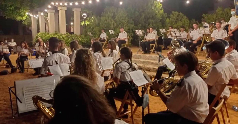 La Agrupación Musical Santa Cecilia celebró su concierto de verano en el Parque de la Glorieta