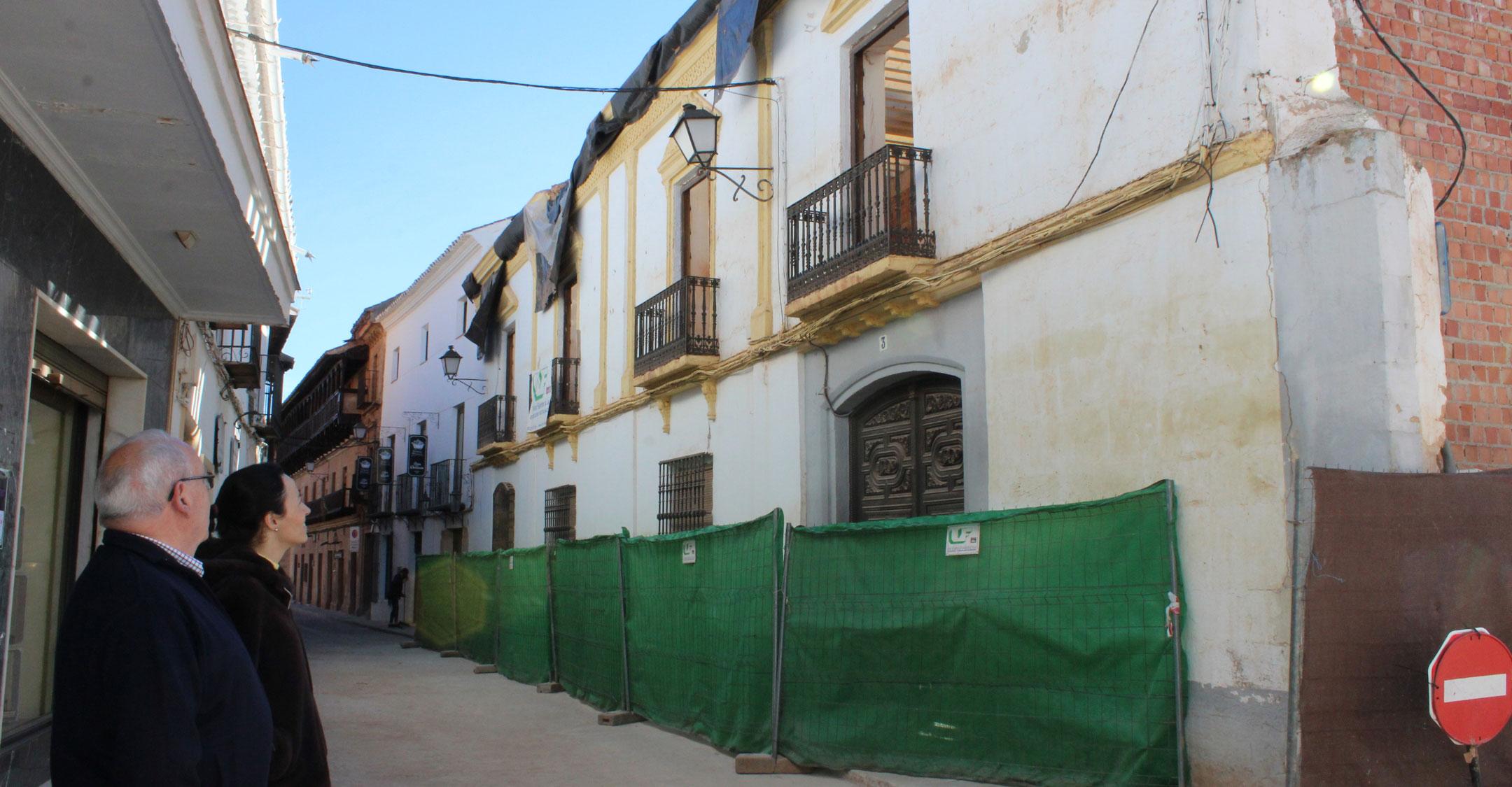 La primera fase de las obras de rehabilitación de la Casa Rueda finalizarán en breve