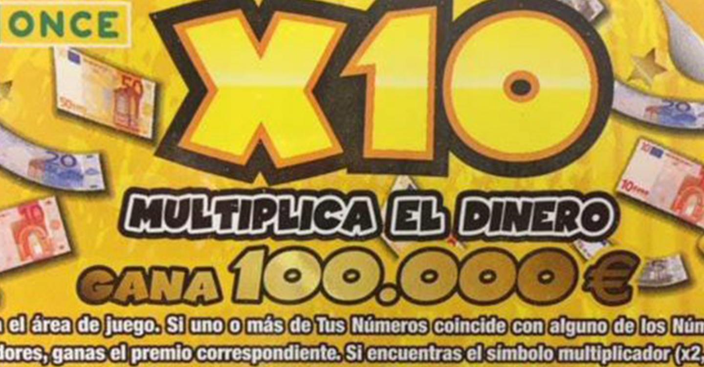Un vecino de Manzanares (Ciudad Real) gana 100.000 euros con el 'RascaX10' de la ONCE