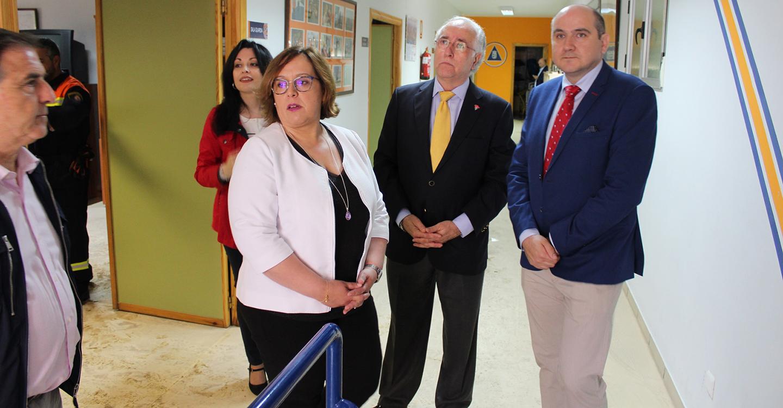 Carmen Olmedo ha visitado el Hospital General de Valdepeñas para comprobar su normal funcionamiento