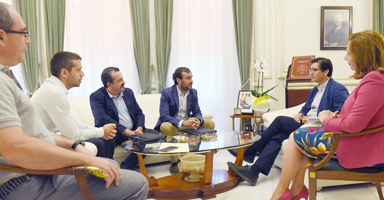 El presidente de la Diputación recibe al presidente del Colegio de Secretarios, Interventores y Tesoreros de Ciudad Real
