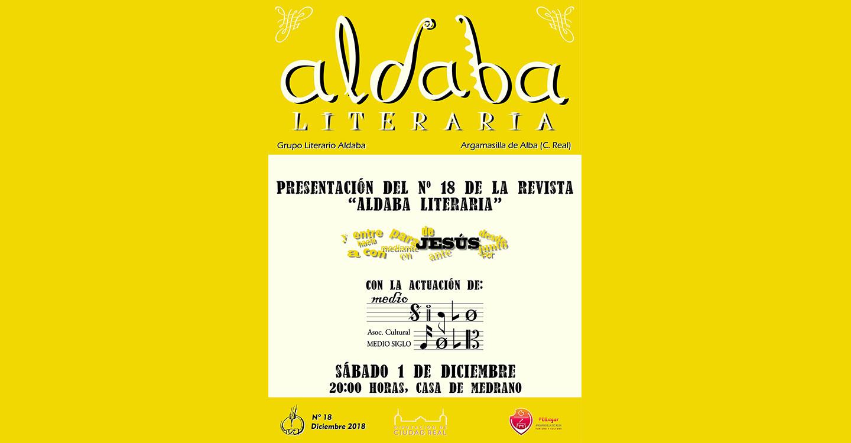Aldaba presenta este sábado el número 18 de su revista literaria