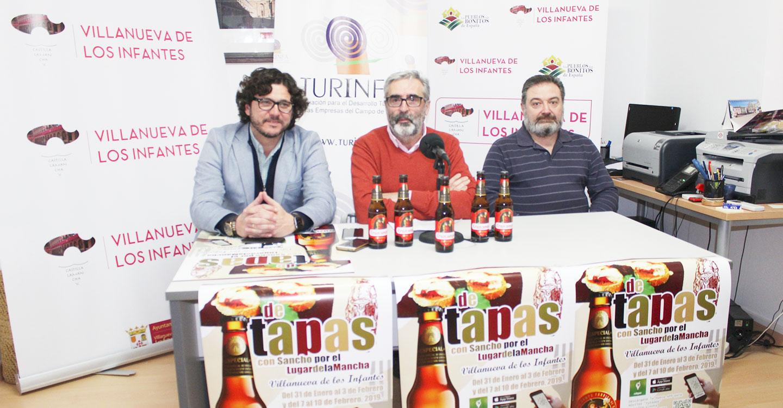 Presentación de la décima ruta de tapas 2019 con Sancho por el lugar de La Mancha