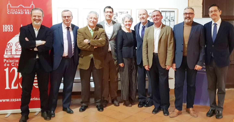 Reunidos todos los presidentes de la Diputación desde el inicio de la Democracia con motivo del 125 aniversario del Palacio Provincial