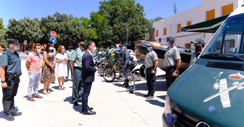 El delegado del Gobierno de España en Castilla-La Mancha y el general de Zona de la Guardia Civil destacan el dispositivo para garantizar la seguridad del Parque Natural de Las Lagunas de Ruidera