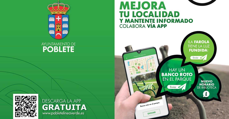 El Ayuntamiento de Poblete implanta un nuevo servicio de comunicación de incidencias a través de app móvil