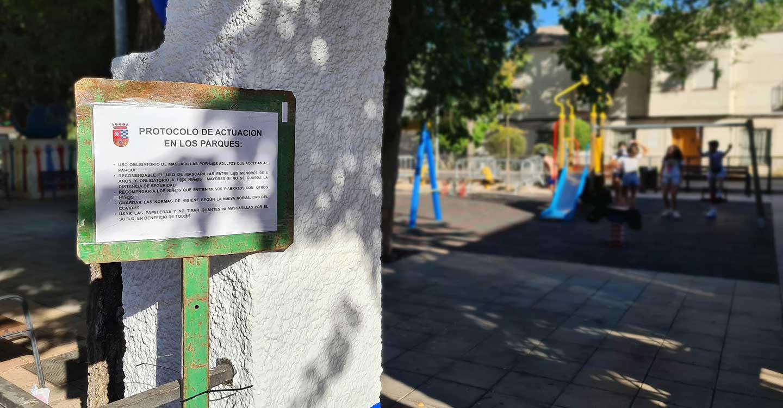 Reapertura de las zonas de juego infantil en los parques de Argamasilla de Alba