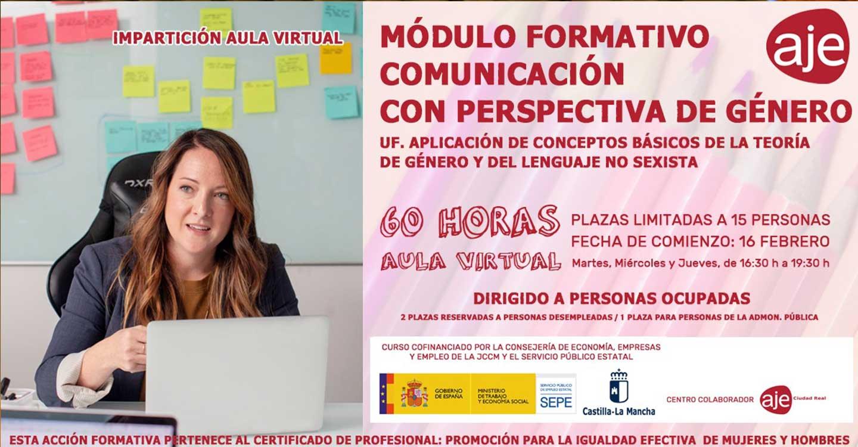Aje Ciudad Real formará a 15 profesionales en la comunicación con perspectiva de género y el lenguaje no sexista