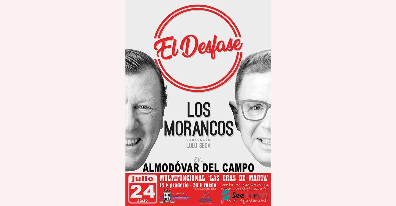 Últimos días de venta anticipada de entradas para el espectáculo de Los Morancos este sábado en Almodóvar del Campo