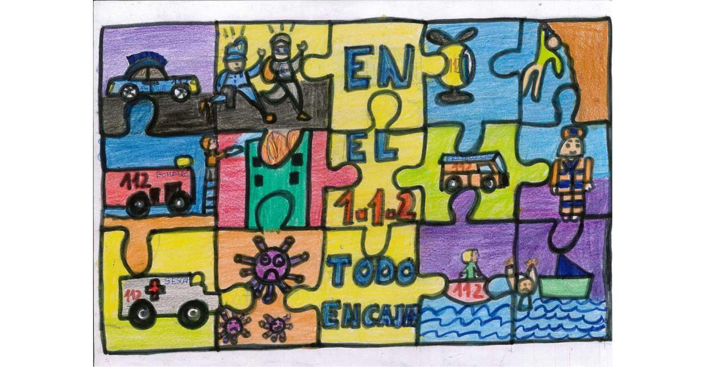 Un alumno del colegio 'Alarcos' de la pedanía ciudadrealeña de Valverde gana la IX edición del Concurso de Dibujo Escolar sobre el 1-1-2