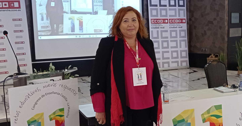 Ana Delgado continuará al frente de la Federación de Enseñanza en CCOO CLM tras el respaldo del XI Congreso Regional