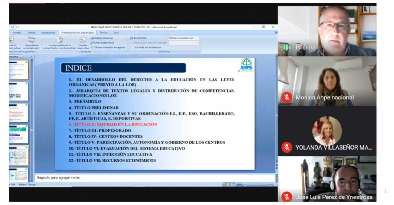 Gran éxito de participación en las Jornadas sobre la nueva Ley Educativa LOMLOE, organizadas por ANPE-Ciudad Real