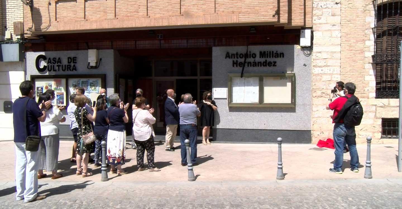 La Casa de Cultura de Villarrubia de los Ojos cambia su nombre en homenaje a uno de sus vecinos más queridos