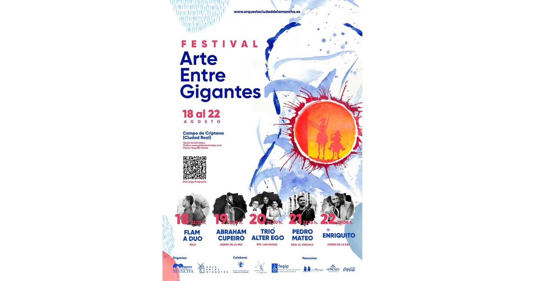 Arte entre gigantes, un festival único donde convivirá la música con los espacios más emblemáticos de Campo de Criptana
