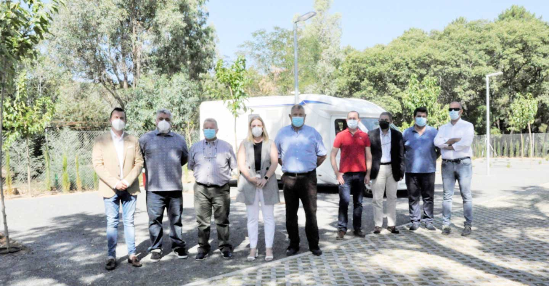 La Diputación de Ciudad Real promueve servicios de calidad para autocaravanistas en pleno Parque Natural de Sierra Madrona y Valle de Alcudia