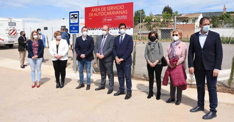 Inauguradas las áreas de autocaravanas de Luciana y Corral de Calatrava