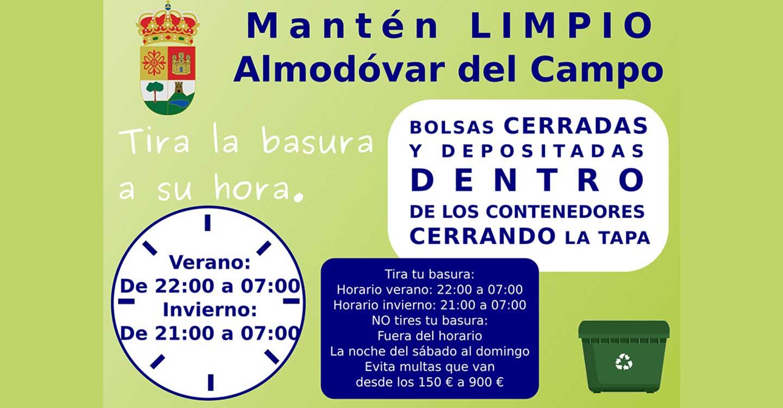 El Ayuntamiento de Almodóvar del Campo lanza una campaña para el uso responsable de los contenedores de basura orgánica
