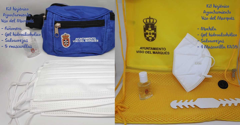 El Ayuntamiento de Viso del Marqués distribuye un kit anti-Covid para aumentar la protección de todo su alumnado