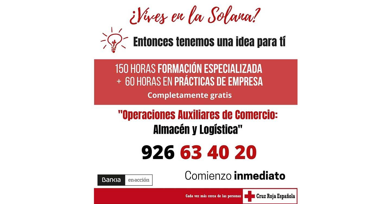Bankia y Cruz Roja ponen en marcha un curso de Recualificación Profesional para atender a personas afectadas por la crisis en La Solana