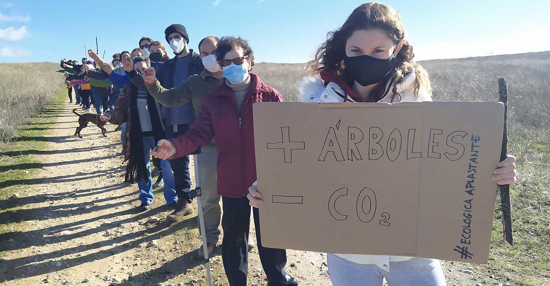 25 personas de distintos puntos de la provincia de Ciudad Real han participado en una bellotada por la recuperación del bosque autóctono del Parque Nacional de las Tablas de Daimiel