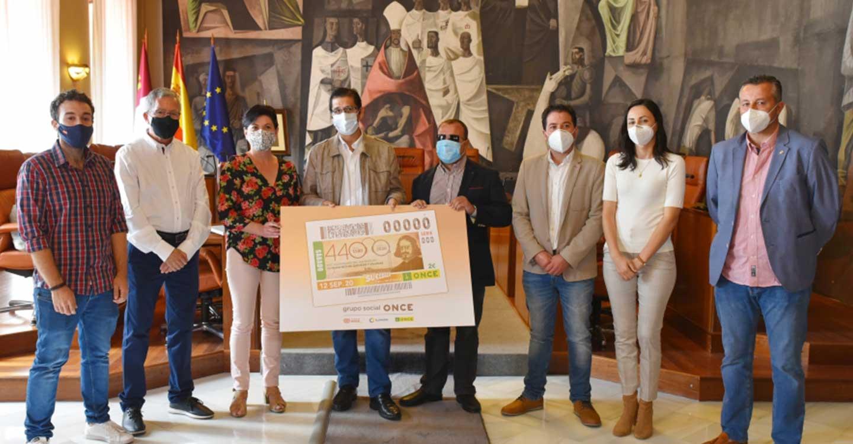 Caballero agradece a la ONCE que contribuya con el cupón del día 12 a fomentar un turismo vinculado a la figura de Quevedo