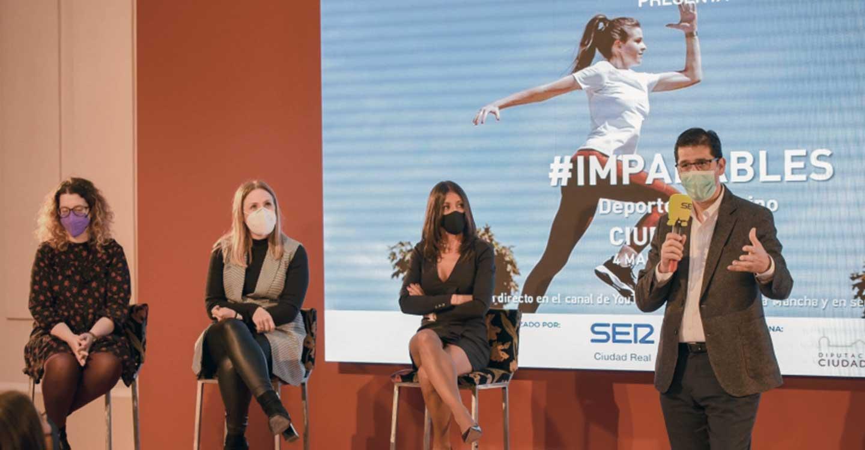 Caballero remarca el apoyo de la Diputación al deporte femenino y la importancia de que las niñas tengan referentes