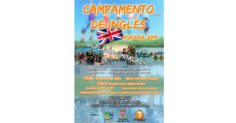 Campamento Juvenil de Inglés con el Ayuntamiento de Argamasilla de Alba y Quijote Academy