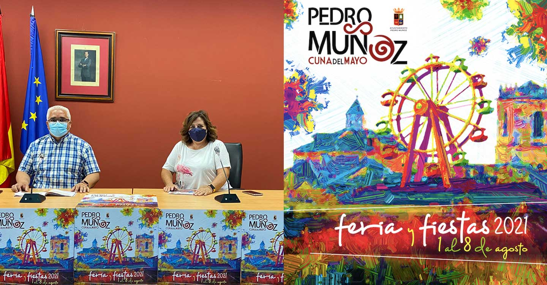 Así es el cartel de la Feria y Fiestas 2021 de Pedro Muñoz