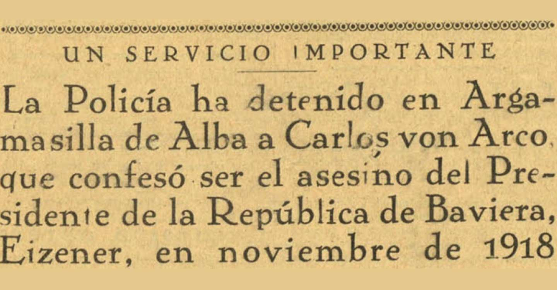 """EL caso del falso Conde Von Arco. Un """"apache"""" en Argamasilla de Alba"""