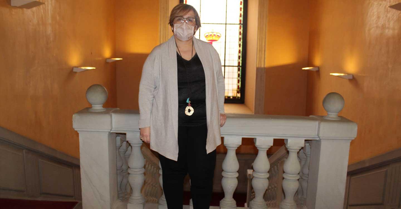 La Delegada de la Junta, Carmen Olmedo, anima a las personas afectadas de cáncer a que no pierdan la esperanza y las ganas de luchar