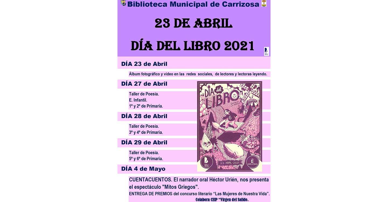 Carrizosa se sumerge en las Jornadas del Día del Libro con un amplio abanico de actividades en la Biblioteca Municipal